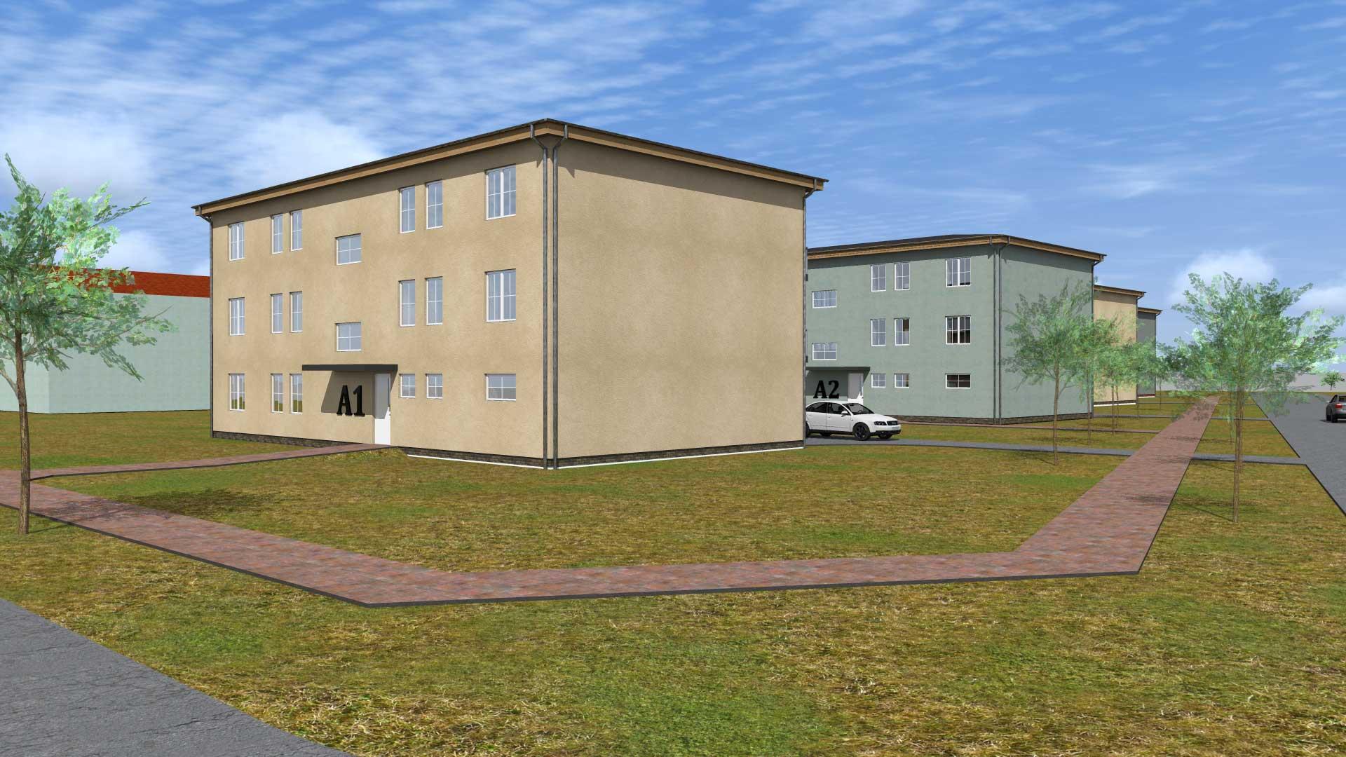 Vizualizace bytových domů 1